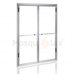 Mosquitera de puertas abatibles RAL blanco